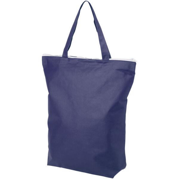 Privy zippered short handle non-woven tote bag (12040502)