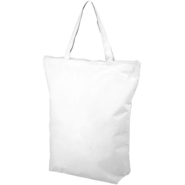 Privy zippered short handle non-woven tote bag (12040503)
