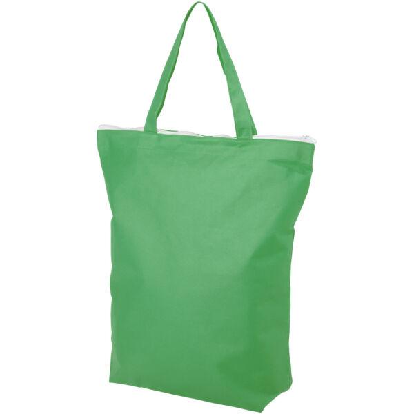 Privy zippered short handle non-woven tote bag (12040504)