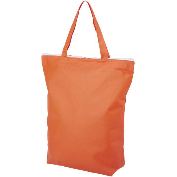 Privy zippered short handle non-woven tote bag (12040507)