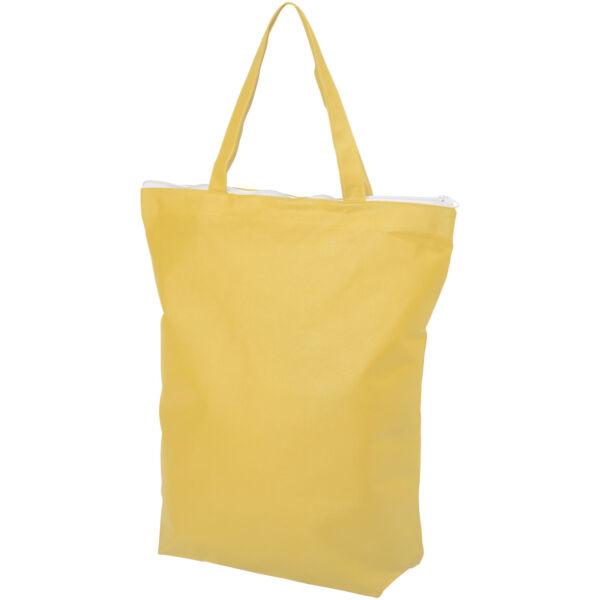 Privy zippered short handle non-woven tote bag (12040508)