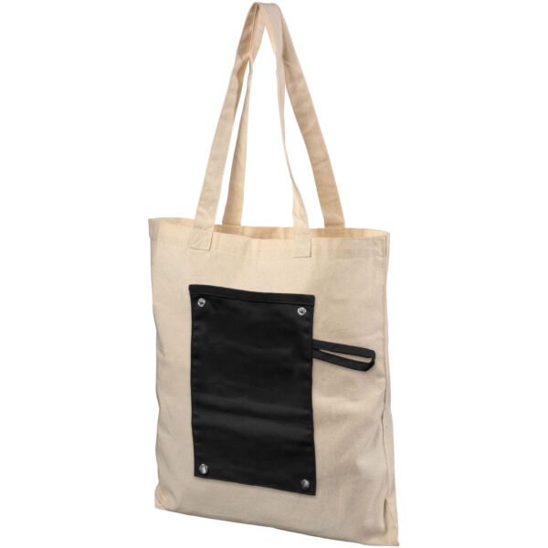 Snap 180 g/m² roll-up buttoned cotton tote bag (12040700)