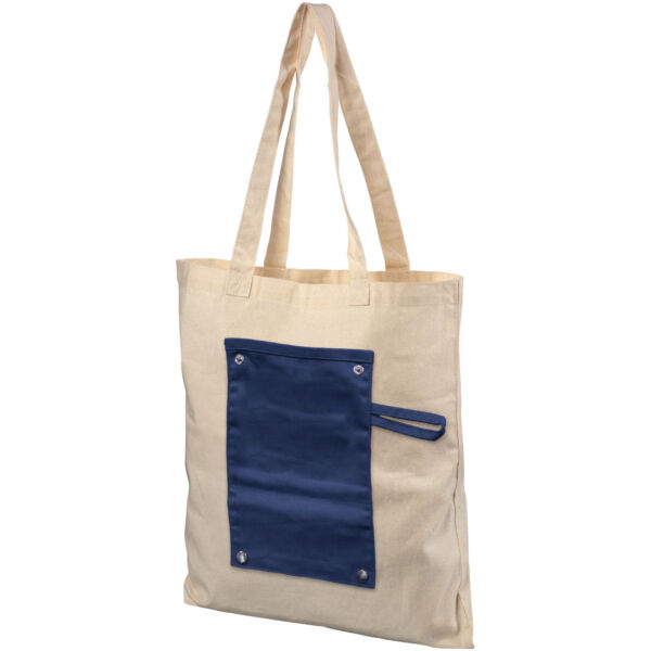 Snap 180 g/m² roll-up buttoned cotton tote bag (12040701)
