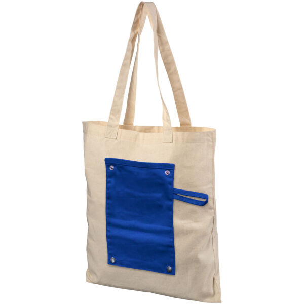 Snap 180 g/m² roll-up buttoned cotton tote bag (12040702)