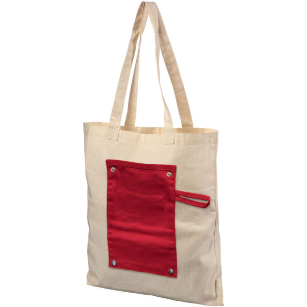 Snap 180 g/m² roll-up buttoned cotton tote bag (12040703)
