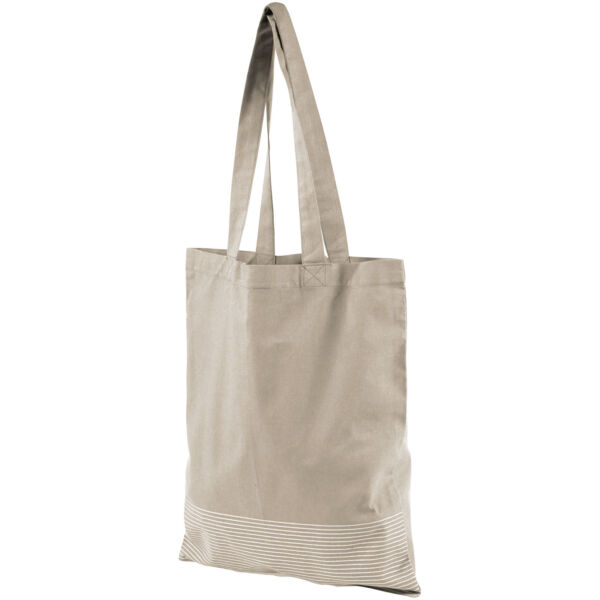 Aylin 140 g/m² silver lines cotton tote bag (12040900)