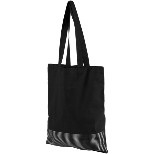 Aylin 140 g/m² silver lines cotton tote bag (12040901)
