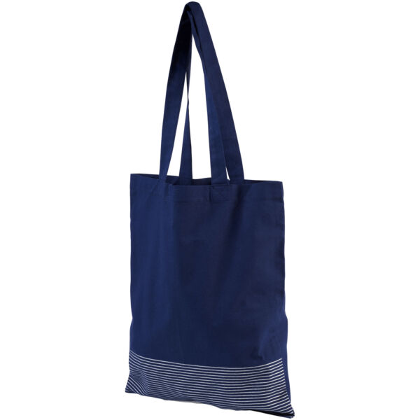 Aylin 140 g/m² silver lines cotton tote bag (12040902)