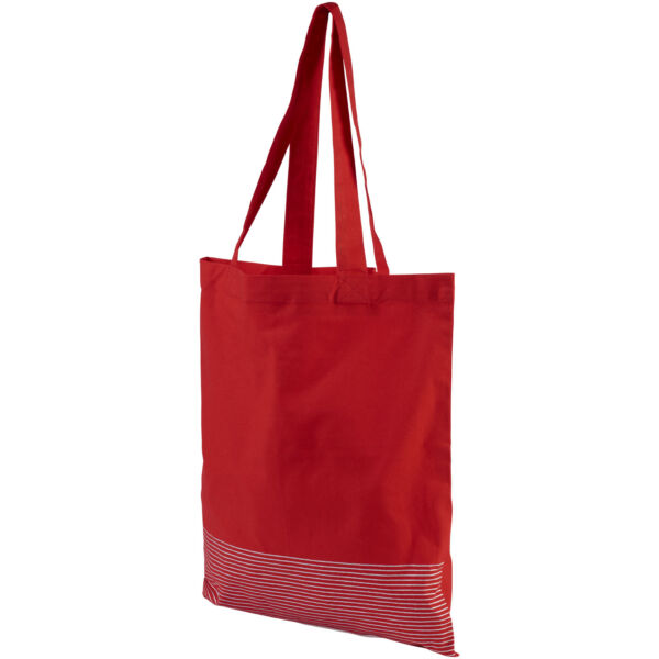 Aylin 140 g/m² silver lines cotton tote bag (12040903)