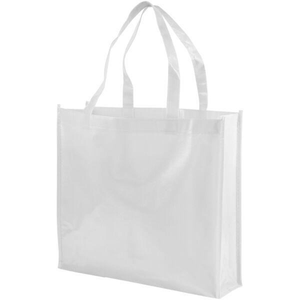 Shiny laminated non-woven shopping tote bag (12041601)