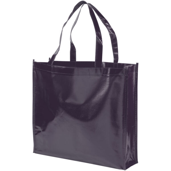 Shiny laminated non-woven shopping tote bag (12041602)