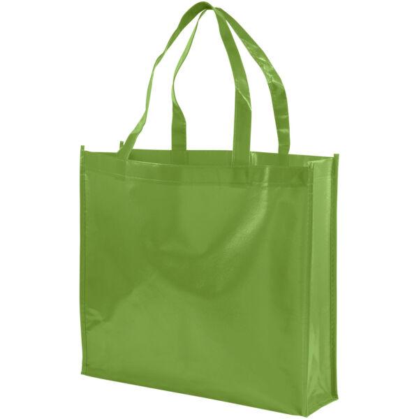 Shiny laminated non-woven shopping tote bag (12041604)