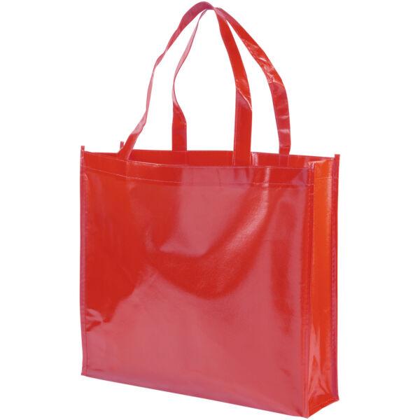 Shiny laminated non-woven shopping tote bag (12041605)