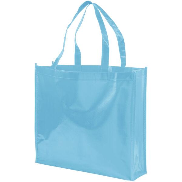 Shiny laminated non-woven shopping tote bag (12041606)