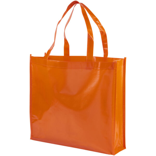 Shiny laminated non-woven shopping tote bag (12041607)
