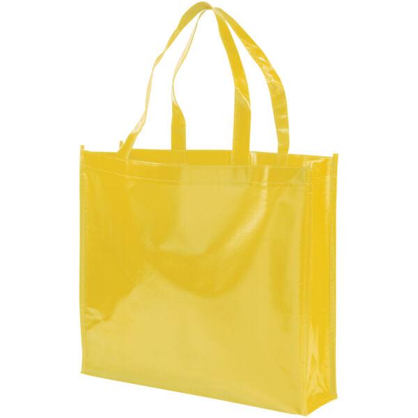 Shiny laminated non-woven shopping tote bag (12041608)