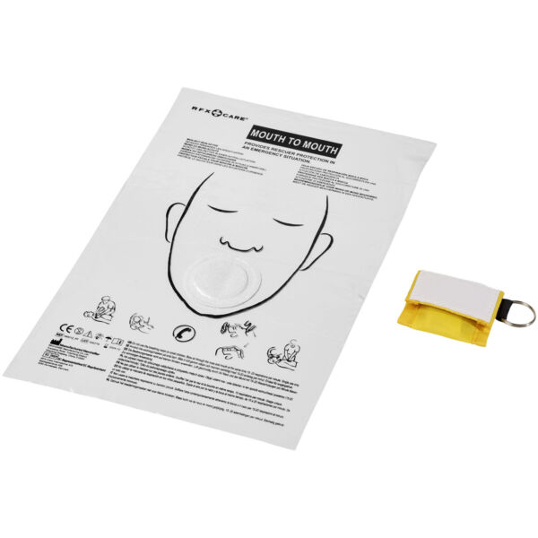 Henrik mouth-to-mouth shield in polyester pouch (12201007)