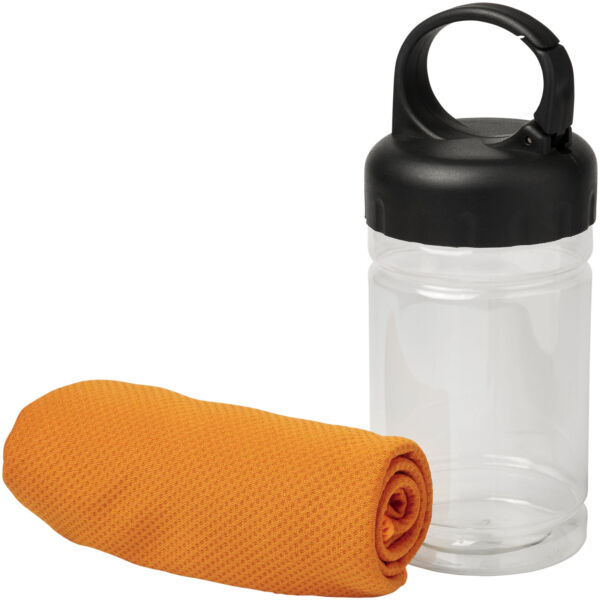 Remy cooling towel in PET container (12617008)