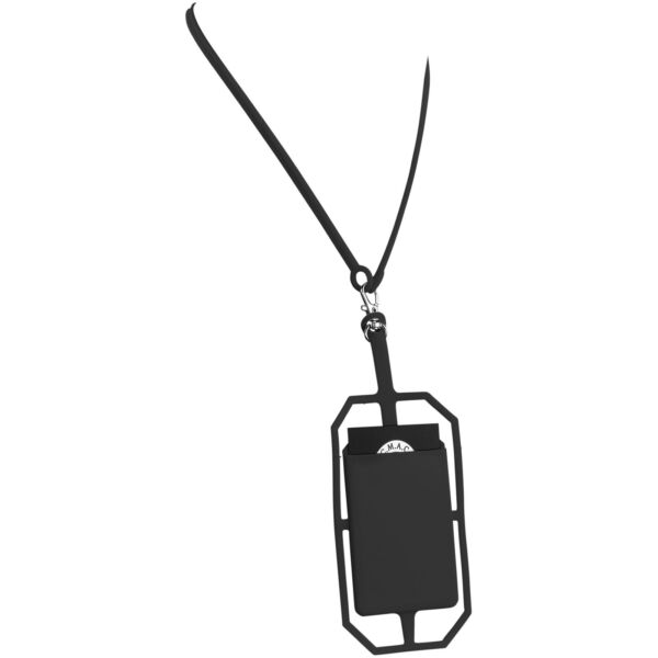 Fort-rock silicone RFID card holder with lanyard (13425800)