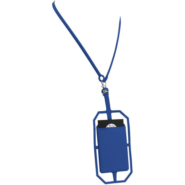 Fort-rock silicone RFID card holder with lanyard (13425801)