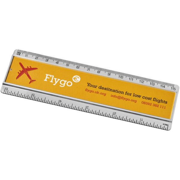 Ellison 15 cm plastic ruler with paper insert (21053800)