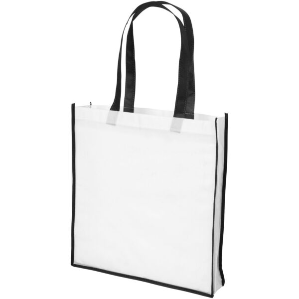 Contrast large non-woven shopping tote bag (21071801)