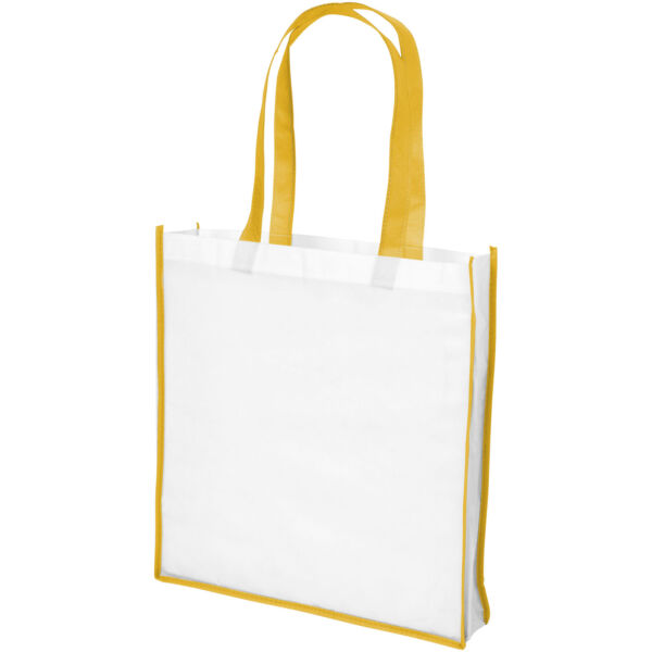 Contrast large non-woven shopping tote bag (21071805)