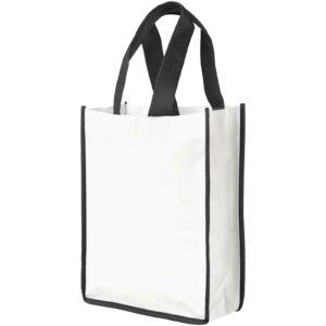 Contrast small non-woven shopping tote bag (21071900)