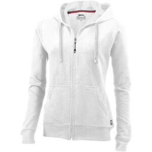 Open full zip hooded ladies sweater (33241015)