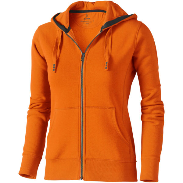 Arora hooded full zip ladies sweater (38212335)