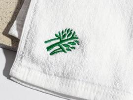 Logoga rannarätikud